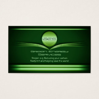 Green Energy Services - Metal Disc and Flourishes