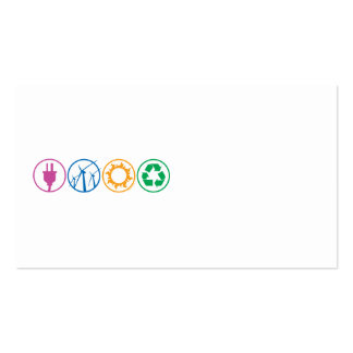 Green Energy Symbols Double-Sided Standard Business Cards (Pack Of 100)