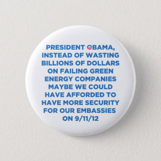 Green Energy Waste 6 Cm Round Badge