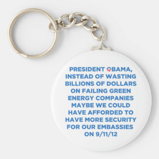 Green Energy Waste Basic Round Button Key Ring
