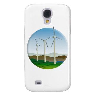 Green Energy Wind Turbine Galaxy S4 Case