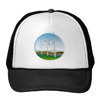 Green Energy Wind Turbine Hats