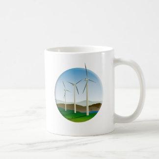 Green Energy Wind Turbine Coffee Mug
