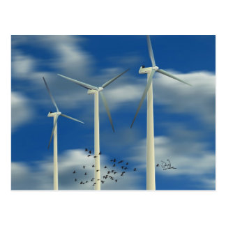 Green Energy Wind Turbine Postcard