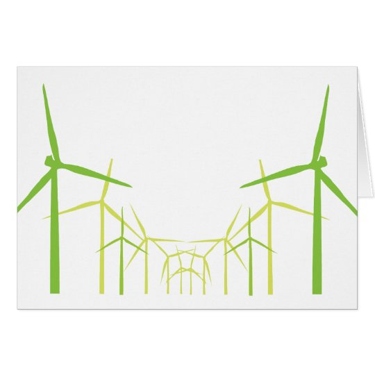Green Energy Wind Turbine Windmill Card
