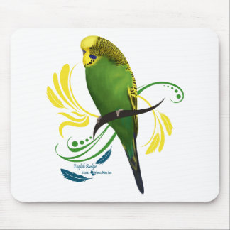 Green English Budgie Mouse Mat