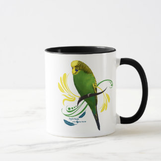 Green English Budgie Mug