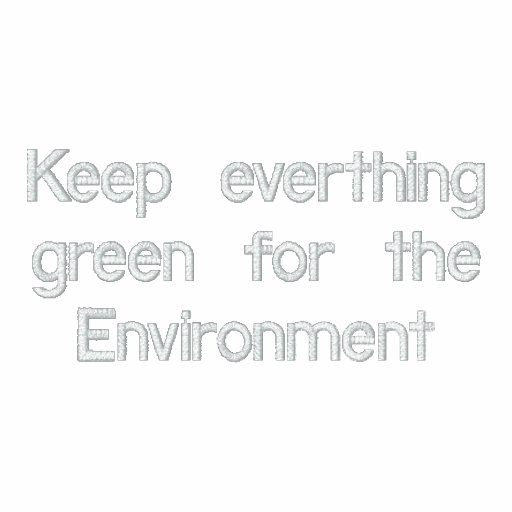 Green Environment Embroidered Hoodie