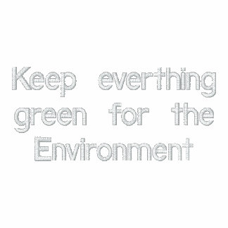 Green Environment Embroidered Zipped Hoodie