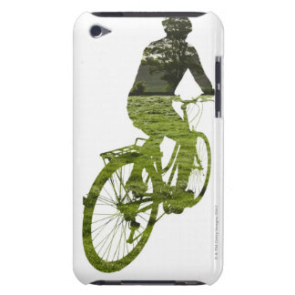 green, environmentally friendly transport iPod touch Case-Mate case