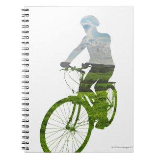 green, environmentally friendly transport notebook