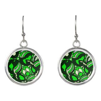 Green Envy Drop Earrings