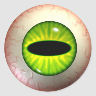 Green Envy Eye Stickers