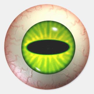 Green Envy Eye Stickers