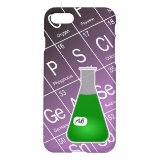 Green Erlenmeyer Flask (with Initials) Chemistry iPhone 7 Case