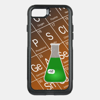 Green Erlenmeyer Flask (with Initials) Chemistry OtterBox Commuter iPhone 8/7 Case