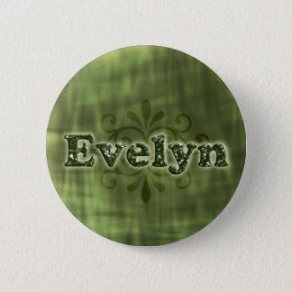 Green Evelyn 6 Cm Round Badge