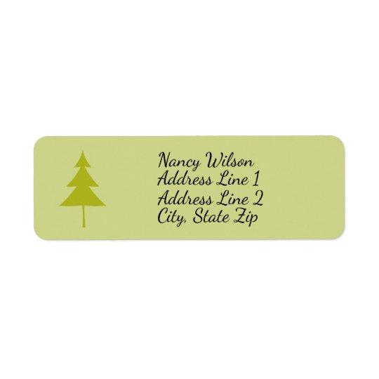Green Evergreen Tree Return Address Label