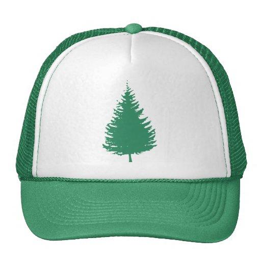 Green Evergreen Tree Trucker Hat