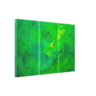 Green Excitement Abstract Expressionist Acrylic Canvas Print
