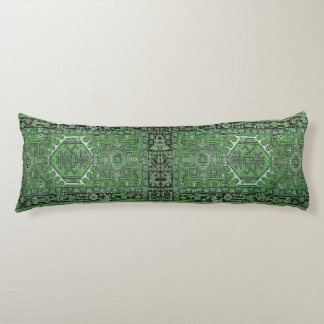 Green Exotic Persian Rug Reproduction, Body Cushion