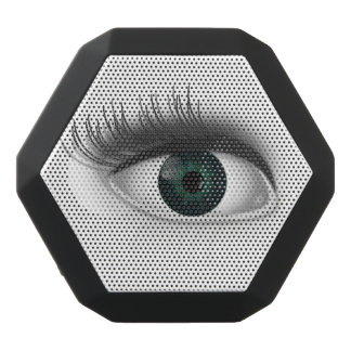 Green eye. black bluetooth speaker