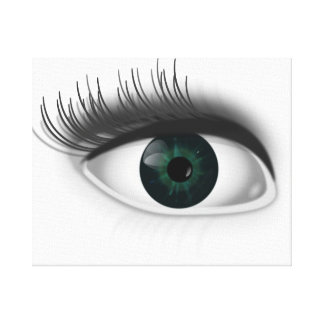 Green eye. canvas print