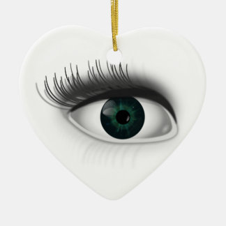 Green eye. christmas ornament