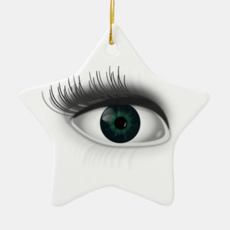 Green eye. christmas ornament