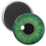 Green Eye Iris Eyeball Cool Custom Round Magnets