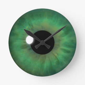 Green Eye Iris Eyeball Medium Custom Round Clock