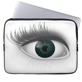Green eye. laptop sleeve