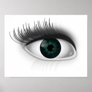 Green eye. poster