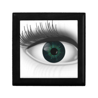 Green eye. small square gift box