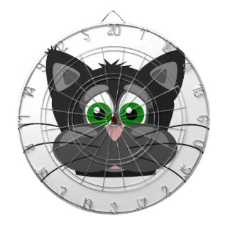 Green-eyed black Cat Dartboard