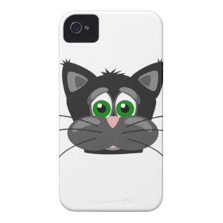 Green-eyed black Cat iPhone 4 Cases