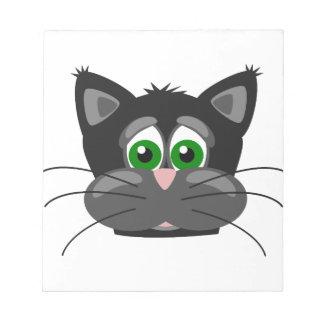 Green-eyed black Cat Notepad