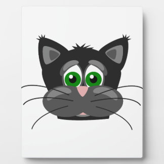 Green-eyed black Cat Plaque