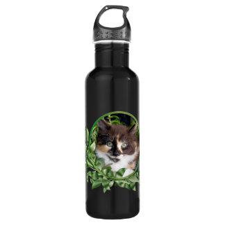 Green Eyed Calico Kitten 710 Ml Water Bottle