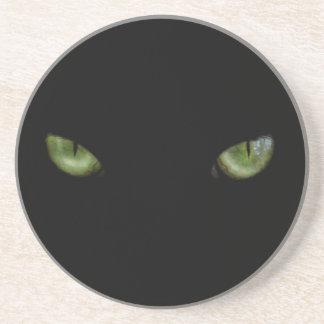 Green eyed cat coaster
