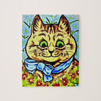 GREEN-EYED CAT Jigsaw Puzzle Louis Wain's Cats