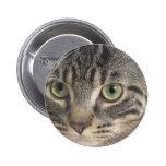 Green Eyed Cat Pin
