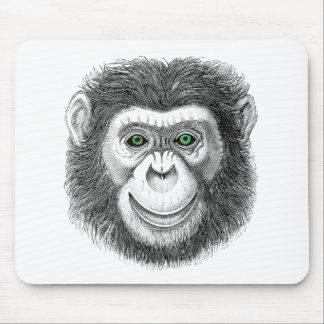 Green-Eyed Chimp Mouse Pads