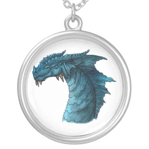 Green Eyed Dragon - Blue Pendants