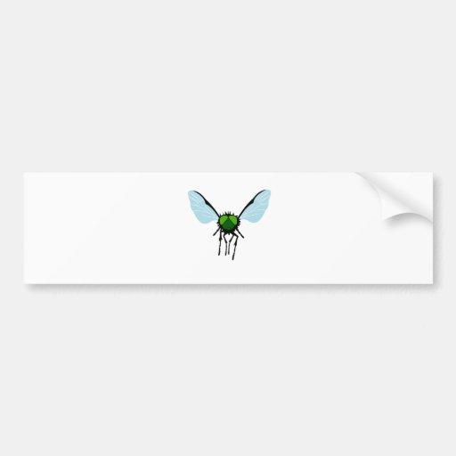 Green-eyed Fly Bumper Sticker