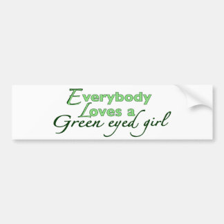 Green Eyed Girl Bumper Sticker