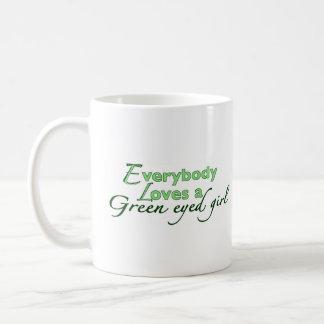 Green Eyed Girl Coffee Mug