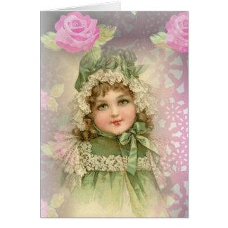 Green-Eyed Girl Greeting Card