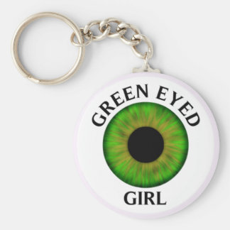 Green Eyed Girl Keychain