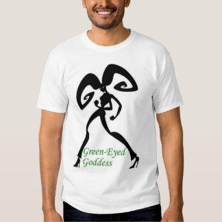 Green-eyed goddess tee shirt